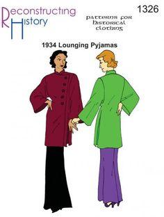 1934 Lounging Pyjamas Pattern By Reconstructing History
