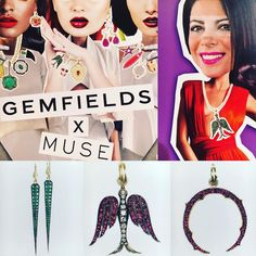 Cool colorful collaboration GEMFIELDSxMUSE #sylvacie #couture #thisiscouture #museshowroom @museshowroom @gemfields