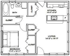 30x24 House -- #30X24H1B -- 720 sq ft - Excellent Floor Plans