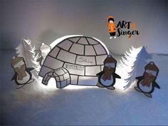 Silhouette plotter file free, Plotter Datei kostenlos, plotter freebie, Weihnachten, Christmas, Xmas,Iglu, Pinguin, igloo, penguin