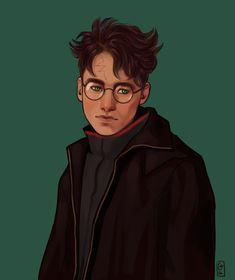 Harry James Potter, Harry Potter Fan Art, Harry Potter World, Hp Book, Book Series, Harry Potter Illustrations, Jily, The Marauders, Fantastic Beasts