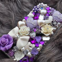 Custom iphone 5 rhinestone case in Purple Exotic by DemiGoddessCo, $65.00