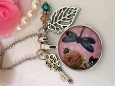 Dragonfly Image Bag Dangle Filofax Charm or Planner by PrettySang, $10.90