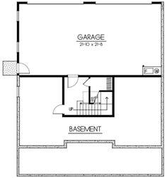 Houseplans.com Craftsman Lower Floor Plan Plan #100-437