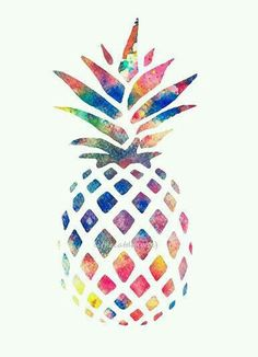 Watercolor Pineapple Colorful Art Print, Rainbow Colors, Kitchen Art Print, Watercolor Painting Watercolor Print www.club/learn-more Inspiration Art, Art Inspo, Watercolor Flowers, Watercolor Art, Watercolor Paintings Tumblr, Watercolor Projects, Pineapple Tattoo, Pineapple Drawing, Pineapple Art