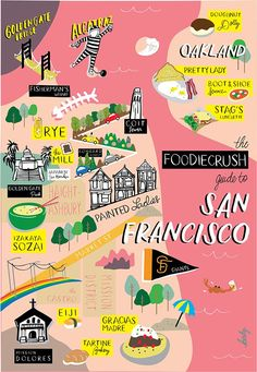 The best places to eat, dine and drink in San Francisco and Oakland, CA… San Diego, San Francisco Bay, San Francisco Travel Guide, San Francisco Food, San Francisco Skyline, Voyage Usa, Road Trip, Destination Voyage, California Dreamin'