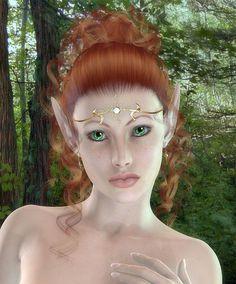 female red haired elf halloween hair halloween makeup halloween costume ideas elf - Fairy Halloween Makeup Ideas