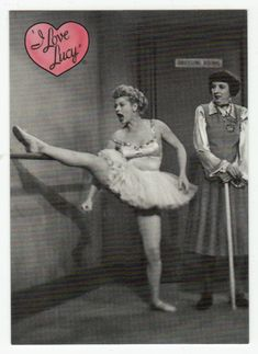I Love Lucy - The Ballet # 8 - 50th Anniversary Dart Flipcards - 2001