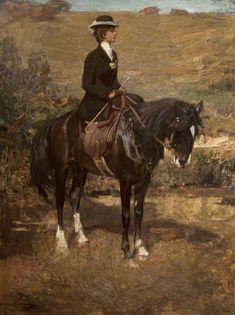 Sir John Lavery - Idonia in Morocco: The Equestrian Lady Equestrian Art, Vintage Art, Animal Art, Irish Painters, Art Uk, Art, Artwork, Horse Painting, Animal Paintings
