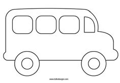 school-bus Art Drawings For Kids, Drawing For Kids, Painting For Kids, Easy Drawings, Felt Board Patterns, Quiet Book Patterns, School Bus Crafts, Preschool Crafts, Crafts For Kids