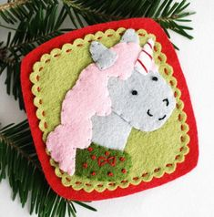 Christmas Unicorn Felt Ornament | Make an unexpected DIY Christmas ornament using felt and a little magic.