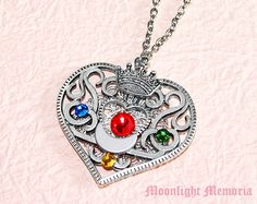 Sailor Moon Necklace - Sailor Moon Cosmic Heart Compact Inspired Crystal Silver Crown Sailor Moon Necklace Jewelry Valentines Day Gift on Etsy, $50.00
