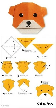 [Easy to learn small animal origami] Although steps are written in Japanese, but it is very clear - you can plot step Folding Kane