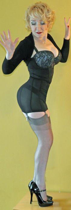 photo Skinny brunette fucking in sexy fishnet lingerie