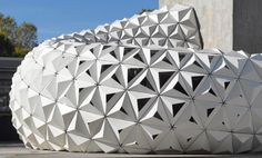 A mock-up of a bio-plastics façade has been created that is made of 90% bio-plastics. This project leads the way towards new levels of both recycling and renewability in façades. A consortium of designers, researchers and academics developed the material, called ArboBlend, and a triangulated façade material from it, the ArboSkin.