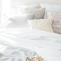 Wainscott Oxford Weave Duvet Cover & Shams – White #serenaandlily