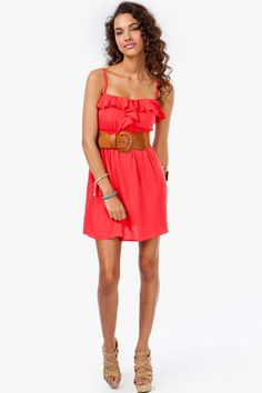 Ruffle Cami Belted Sundress - might have already pinned this but I love it