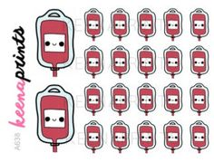 A638 | BLOOD BAG Stickers - Medical stickers, Hospital Stickers, Daily Stickers…