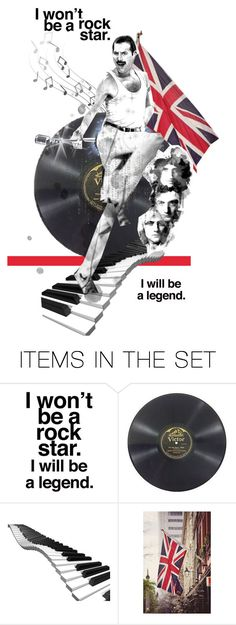 """The Legendary, Mr. Freddie Mercury..."" by diane-888 ❤ liked on Polyvore featuring art"