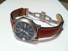 Seiko Men's Seiko 5 Automatic Stainless Steel Watch with Blue Canvas Band Seiko 5 Military, Best Looking Watches, Cool Watches, Watches For Men, Seiko 5 Automatic Watch, Seiko 5 Watches, Large Men Fashion, Men's Fashion, Seiko Mod