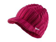 Nike Golf Ladies Knit Cap - Fireberry - Love this color and staying warm :)