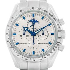 753f711b8 17956 Omega Speedmaster MoonPhase Broad Arrow Mens Watch 3575.20.00  SwissWatchExpo Fine Watches, Watches