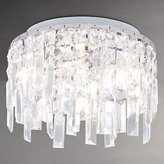 Saxby Lighting 35612 Crystal Bathroom Flush Ceiling Light IP44 Rated