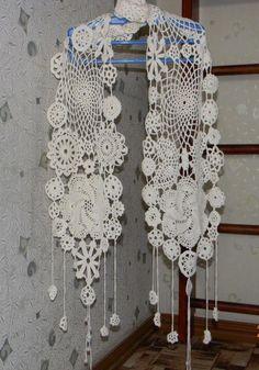 Шарф ажурный из круглых мотивов - Вязание крючком (Тавда) | Тюменский Арт-маркет