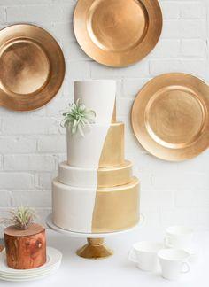 Gold Dipped Everything | Erica O'Brien Cake Design | Cake Blog
