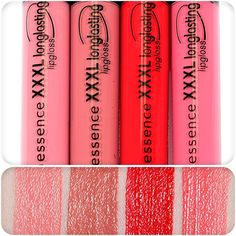 XXXL longlasting lipglosses with matt effect available in four beautiful shades