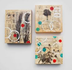 I've been working on some new encaustic mixed media paintings. In these mixed media paintings I have incorporated some of the wonderful vin...