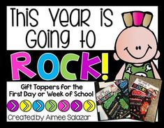 These free gift toppers are a fun way to welcome your students back to school!  Gifts certainly are not necessary, but if you enjoy sharing little treats with your incoming students, then hopefully this fun gift topper will work for you.  This gift topper was made to be used with the small bags of Pop Rocks candy.