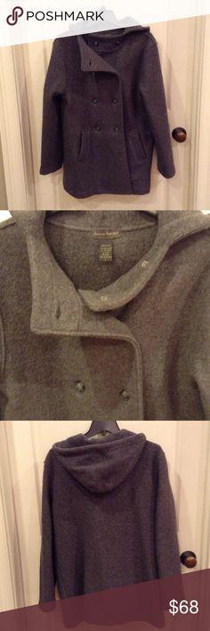 Never worn J. CREW WOOL PEA COAT Never worn JCREW WOOL PEA COAT, GREY WITH HOOD J. Crew Jackets & Coats Pea Coats