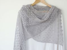lace knitted shawl patterns free easy | ... just published on Ravelry a new pattern for this gorgeous lacy scarf