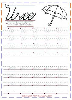 free pint out cursive handwriting tracing worksheets letter u for umbrella kindergarten.ree cursive tracing handwriting practice worksheets for preschool.kids learning activities worksheets for graders letter o for ostrich coloring page. Teaching Cursive, Handwriting Practice Worksheets, Cursive Writing Worksheets, Handwriting Analysis, Tracing Worksheets, Free Handwriting, Learn Cursive, Practice Cursive, Cursive Alphabet