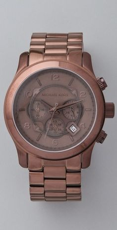 Micheal Kors oversized runway watch in brown