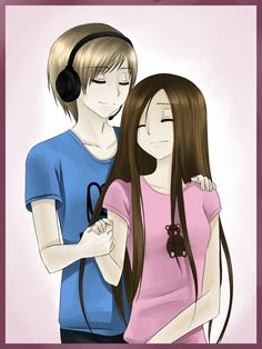 Pewdiepie and Marzia (youtubers) i thought this was cute so i just had to repost it