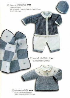 Albums archivés Knitting For Kids, Baby Knitting, Knitted Baby, Pull Bebe, Angel Gowns, Crochet Magazine, Baby Cardigan, Baby Booties, Pulls
