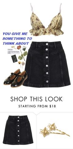 """thinking about u"" by fuck0ffbye ❤ liked on Polyvore featuring Topshop"