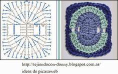 PATRONES   -  CROCHET  -  GANCHILLO  -  GRAFICOS: GRANNY PARA SEGUIR COLECCIONANDO