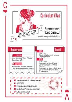 Francesca Ceccarelli beautiful creative resume