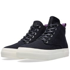 Eytys Odyssey Canvas Hi Top Sneaker (Black)