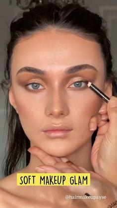 Soft Makeup, Glam Makeup, Simple Makeup, Makeup Inspo, Makeup Cosmetics, Makeup Tips, Face Makeup, Natural Makeup For Brown Eyes, Colorful Makeup