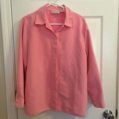 Womens Blouse Pink Faux Suede Button-up Western Style Sz PL by Studio Works #StudioWorks #ButtonDownShirt #Casual