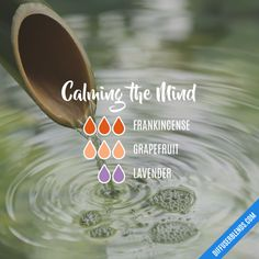 Calming the Mind - Essential Oil Diffuser Blend #Aromatherapy
