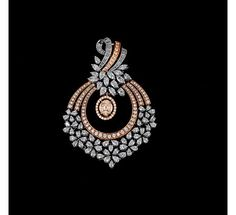 Rose gold with diamond pendant - Buy Rose gold with diamond pendant online - Pendants on sale - Krishna Pearls