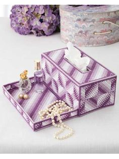 Plastic Canvas - Projects for the Home - Organizer Patterns - Vanity Tray