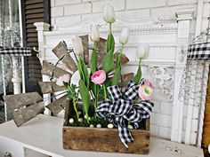 Penny's Vintage Home: Simple Spring Porch Decor