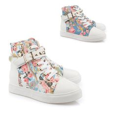 Welcome to our store,your satisfaction is our highest pursuit!!! elegant big girl sneaker floral print canvas causal high heel shoes ...