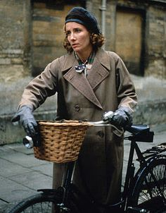 """Emma Thompson in """"The Remains of the Day"""", Columbia Pictures, Photograph: Derrick Santini. One of our favorite Movies with Sir Anthony Hopkins Emma Thompson, Sir Anthony Hopkins, See Movie, Bike Style, Columbia Pictures, British Actresses, Period Dramas, Best Actress, My Ride"""